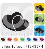 Clipart Of Rounded Corner Square Heart App Icon Design Elements 2 Royalty Free Vector Illustration