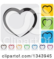 Clipart Of Rounded Corner Square Heart App Icon Design Elements 3 Royalty Free Vector Illustration
