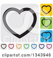 Clipart Of Rounded Corner Square Heart App Icon Design Elements 4 Royalty Free Vector Illustration