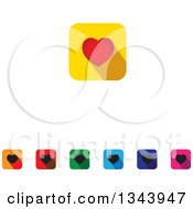 Clipart Of Rounded Corner Square Love Heart App Icon Design Elements Royalty Free Vector Illustration