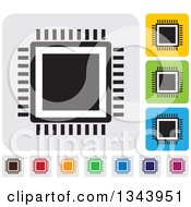 Clipart Of Rounded Corner Square CPU App Icon Design Elements Royalty Free Vector Illustration by ColorMagic