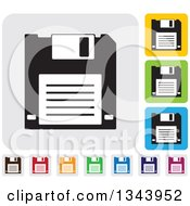 Clipart Of Rounded Corner Square Floppy Disk App Icon Design Elements Royalty Free Vector Illustration by ColorMagic