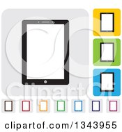 Clipart Of Rounded Corner Square Tablet Computer App Icon Design Elements Royalty Free Vector Illustration by ColorMagic