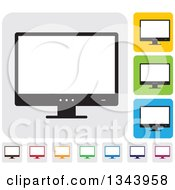Clipart Of Rounded Corner Square Desktop Computer Or Tv Screen App Icon Design Elements 2 Royalty Free Vector Illustration by ColorMagic