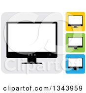 Clipart Of Rounded Corner Square Desktop Computer Or Tv Screen App Icon Design Elements 3 Royalty Free Vector Illustration by ColorMagic