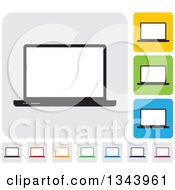 Clipart Of Rounded Corner Square Laptop Computer App Icon Design Elements Royalty Free Vector Illustration by ColorMagic