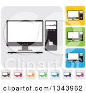 Clipart Of Rounded Corner Square Desktop Computer App Icon Design Elements Royalty Free Vector Illustration by ColorMagic