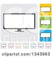 Clipart Of Rounded Corner Square Desktop Computer Or Tv Screen App Icon Design Elements Royalty Free Vector Illustration by ColorMagic