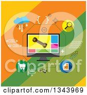 Clipart Of A Flat Design Of Application Development And Icons Royalty Free Vector Illustration by ColorMagic