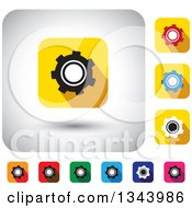Clipart Of Rounded Corner Square Gear App Icon Design Elements Royalty Free Vector Illustration by ColorMagic