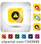 Clipart Of Rounded Corner Square Warning App Icon Design Elements Royalty Free Vector Illustration