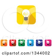 Clipart Of Rounded Corner Square Light Bulb App Icon Design Elements Royalty Free Vector Illustration