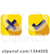 Clipart Of Rounded Corner Square X And Check Mark App Icon Design Elements Royalty Free Vector Illustration by ColorMagic