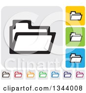 Clipart Of Rounded Corner Square File App Icon Design Elements Royalty Free Vector Illustration