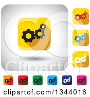 Clipart Of Rounded Corner Square Gear App Icon Design Elements 2 Royalty Free Vector Illustration by ColorMagic