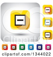 Clipart Of Rounded Corner Square Minus App Icon Design Elements Royalty Free Vector Illustration