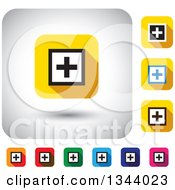 Clipart Of Rounded Corner Square Addition App Icon Design Elements Royalty Free Vector Illustration