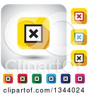 Clipart Of Rounded Corner Square X App Icon Design Elements Royalty Free Vector Illustration by ColorMagic
