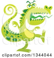 Cartoon Scary Crocodile Monster Marching