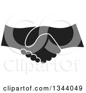 Clipart Of A Black And White Hand Shake Royalty Free Vector Illustration by ColorMagic