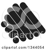 Clipart Of A Pair Of Abstract Black And White Hands Engaged In A Shake Royalty Free Vector Illustration by ColorMagic