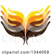 Clipart Of Rows Of Colorful Human Hands 2 Royalty Free Vector Illustration