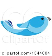 Clipart Of A Blue Bird Hand Royalty Free Vector Illustration by ColorMagic