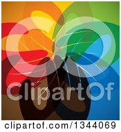 Clipart Of A Background Of A Group Of Colorful Human Hands All In Royalty Free Vector Illustration