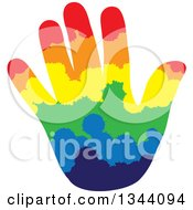 Clipart Of A Hand Made Of Colorful Rows Of Splatters Royalty Free Vector Illustration by ColorMagic