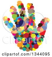 Clipart Of A Hand Made Of Colorful Splatters Royalty Free Vector Illustration