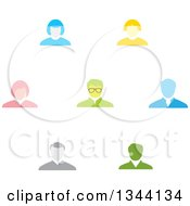 Clipart Of Business Men And Women Avatars Royalty Free Vector Illustration by ColorMagic