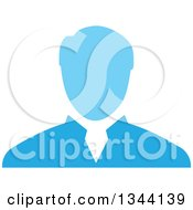 Clipart Of A Blue Businessman Avatar Royalty Free Vector Illustration