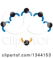 Clipart Of A Manager And Business Team In A Meeting Royalty Free Vector Illustration