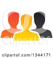 Clipart Of A Colorful Team Of Silhouetted Men From The Shoulders Up Royalty Free Vector Illustration by ColorMagic