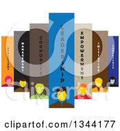 Clipart Of A Team Of Business Men And Women With Text Royalty Free Vector Illustration