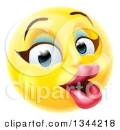 3d Pretty Female Yellow Smiley Emoji Emoticon Face With Makeup