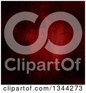 Clipart Of A Dark Red Concrete Background With Scratches And Stains Royalty Free Illustration by KJ Pargeter