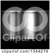 Clipart Of A Shiny Metal Plaque Over Carbon Fiber Royalty Free Illustration by KJ Pargeter