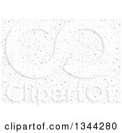Clipart Of A Background Of Small Gray Dots Royalty Free Vector Illustration