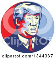 Clipart Of A Donald Trump Stencil Portrait Royalty Free Vector Illustration