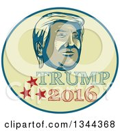 Clipart Of A Donald Trump 2016 Presidential Nominee Design Royalty Free Vector Illustration