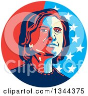Clipart Of A Hillary Clinton Stencil Portrait Royalty Free Vector Illustration