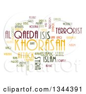 Clipart Of An ISIS And Al Qaeda Word Collage Over White 2 Royalty Free Illustration by oboy