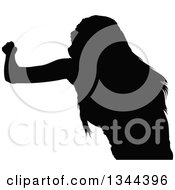Clipart Of A Black Silhouetted Party Woman Dancing 6 Royalty Free Vector Illustration