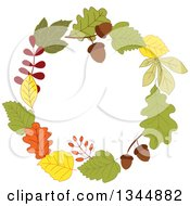 Clipart Of A Colorful Autumn Leaf Wreath 10 Royalty Free Vector Illustration by Vector Tradition SM