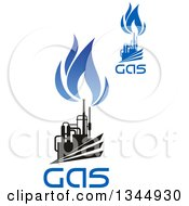 Black And Blue Natural Gas And Flame Designs With Text 22