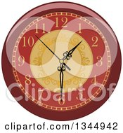 Clipart Of A Cartoon Wall Clock With Ornate Gold Designs Royalty Free Vector Illustration by Vector Tradition SM