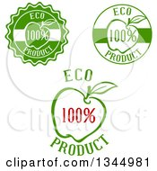 Green Red And White Apple Labels
