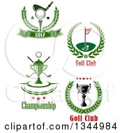 Clipart Of Golf Sports Designs And Text Royalty Free Vector Illustration