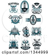 Clipart Of Nautical Designs With Sample Text Royalty Free Vector Illustration by Vector Tradition SM